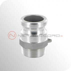 Adapteur type F mâle NPT - Aluminium