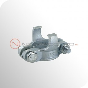 Collier de serrage 2 boulons à griffes - Norme DIN20039B - Acier