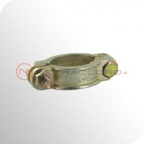 Collier 2 boulons avec languette libre - Norme DIN20039A - Acier