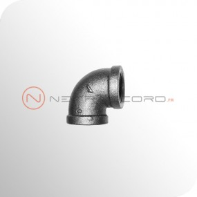 Raccord fonte malléable - Coude 90° femelle-femelle réduit