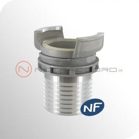 Raccord DSP pompier - Raccord DSP et AR à douille annelée PN25 - Norme NF