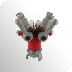 Raccord DSP pompier - Division symétrique avec robinet