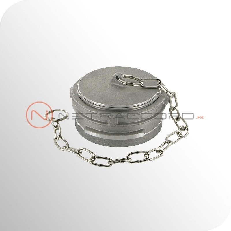 Bouchon Guillemin à verrou et chaînette - Aluminium