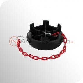 Bouchon Guillemin cadenassable avec chaînette - Polypropylène