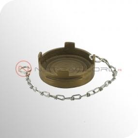 Bouchon Guillemin cadenassable avec chaînette - Laiton