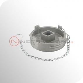 Bouchon Guillemin cadenassable avec chaînette - Aluminium