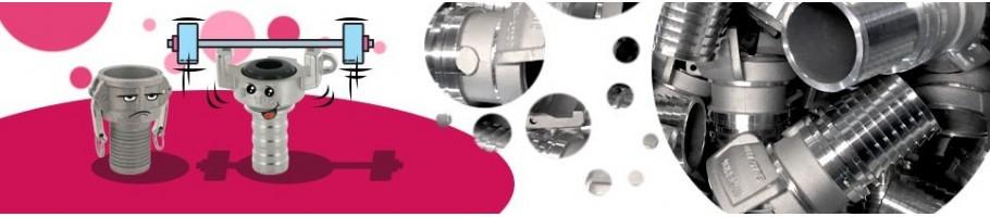 Raccord Storz à douille annelée/cannelée pour Tuyaux | Aluminium